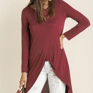 NWT boutique long sleeve top with tie detail